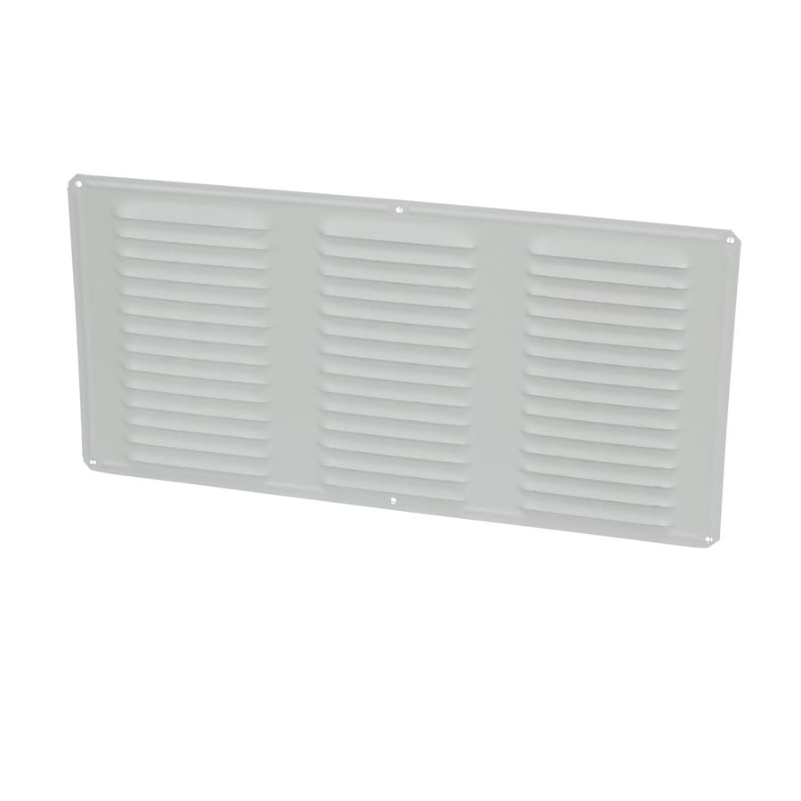 Air Vent 8-in L White Aluminum Soffit Vent