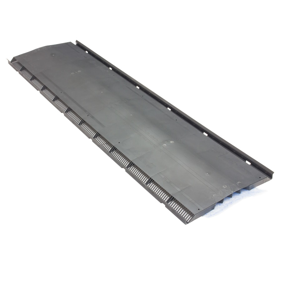 Shop air vent 14 in x 48 in black plastic stick roof ridge for Cupola vent