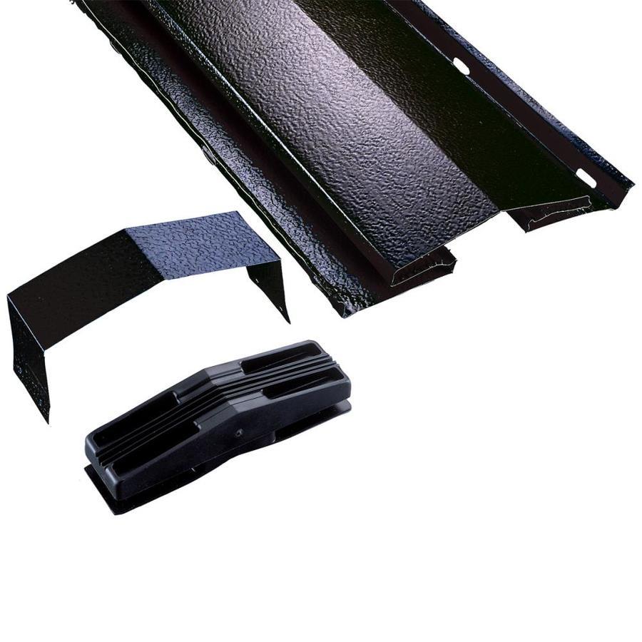 Air Vent 8.5-in x 120-in Black Aluminum Stick Roof Ridge Vent