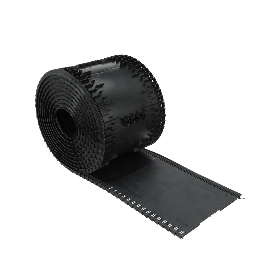 Air Vent 13.5-in x 28-in Black Plastic Roll Roof Ridge Vent