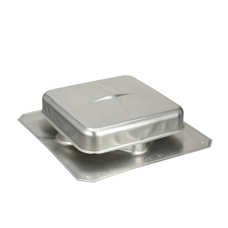Air Vent Gray Aluminum Square Roof Louver