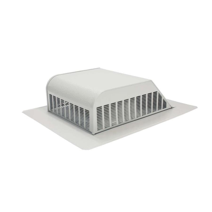Air Vent Gray Aluminum Slant-Back Roof Louver