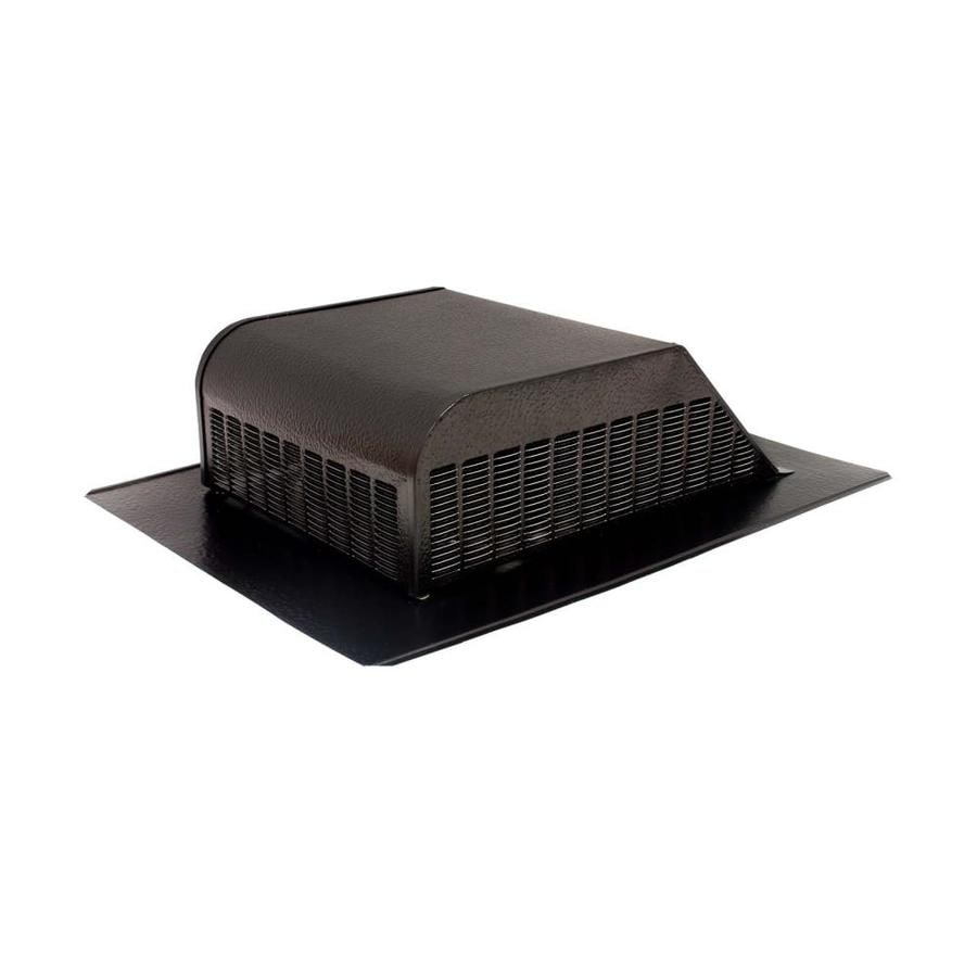 Air Vent Black Aluminum Slant-Back Roof Louver