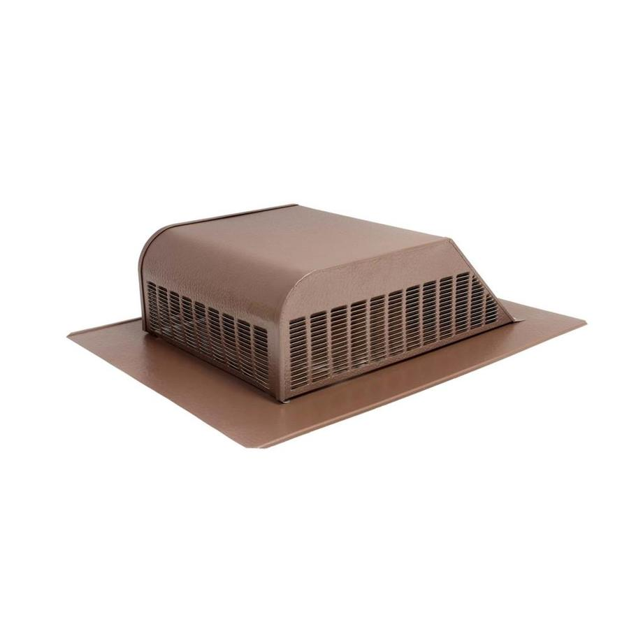 Air Vent Brown Aluminum Slant-Back Roof Louver