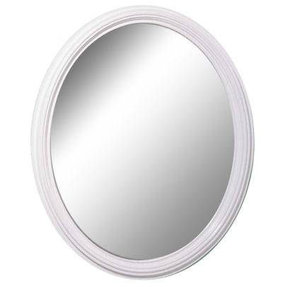 L X W Oval White Wall Mirror