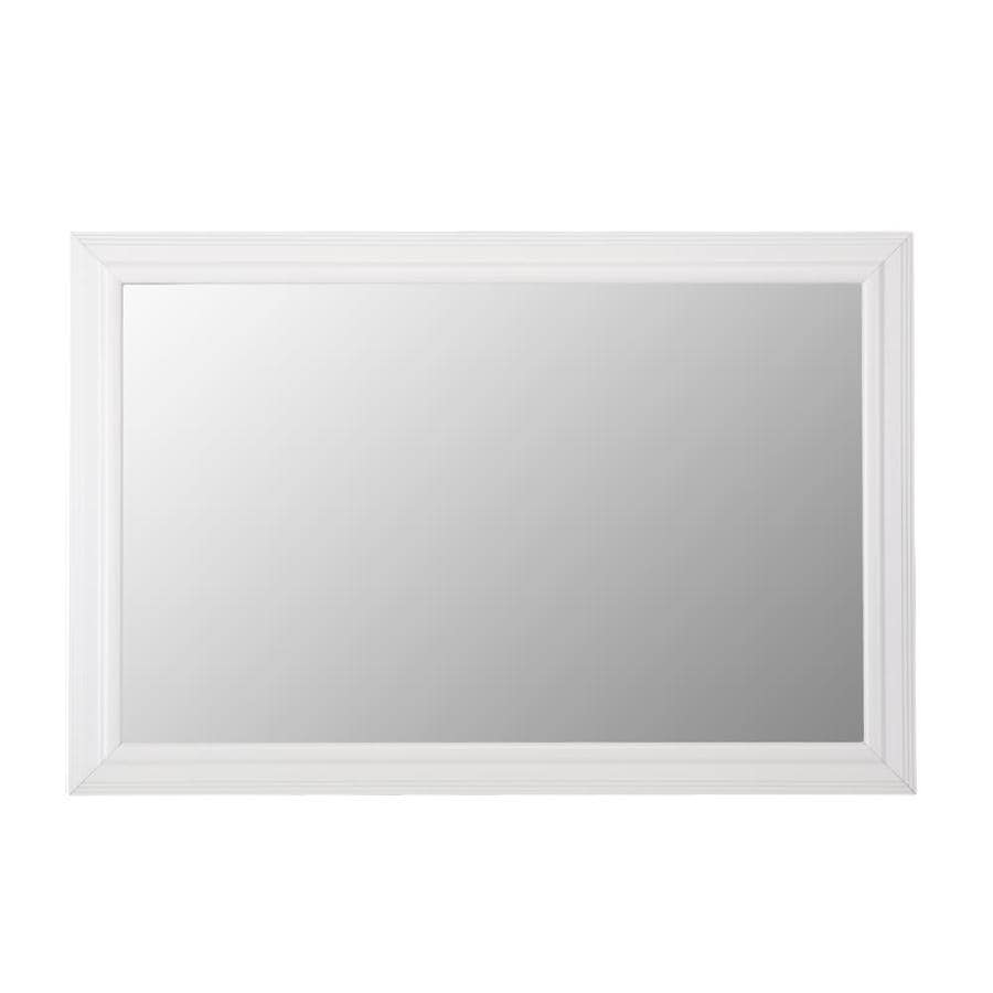 Shop Gardner Glass Products Mirror Frame Kit 30 x 42 Carson White at ...