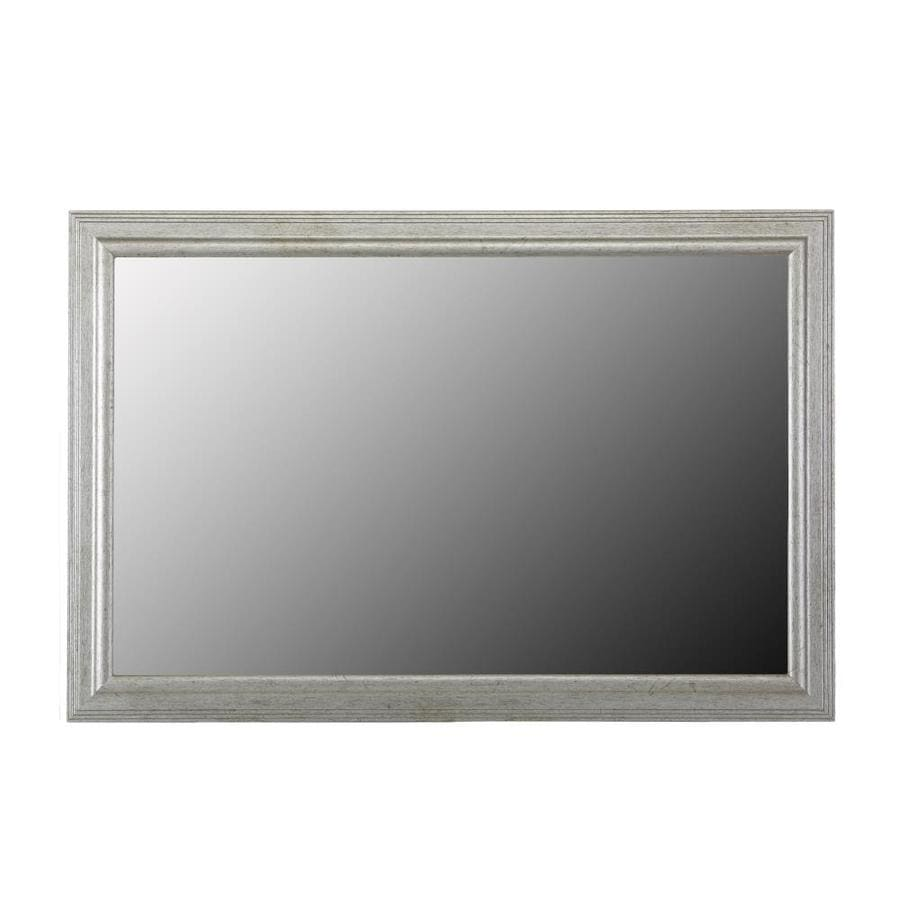 shop gardner glass products mirror frame kit 60 x 36 carson silver at. Black Bedroom Furniture Sets. Home Design Ideas