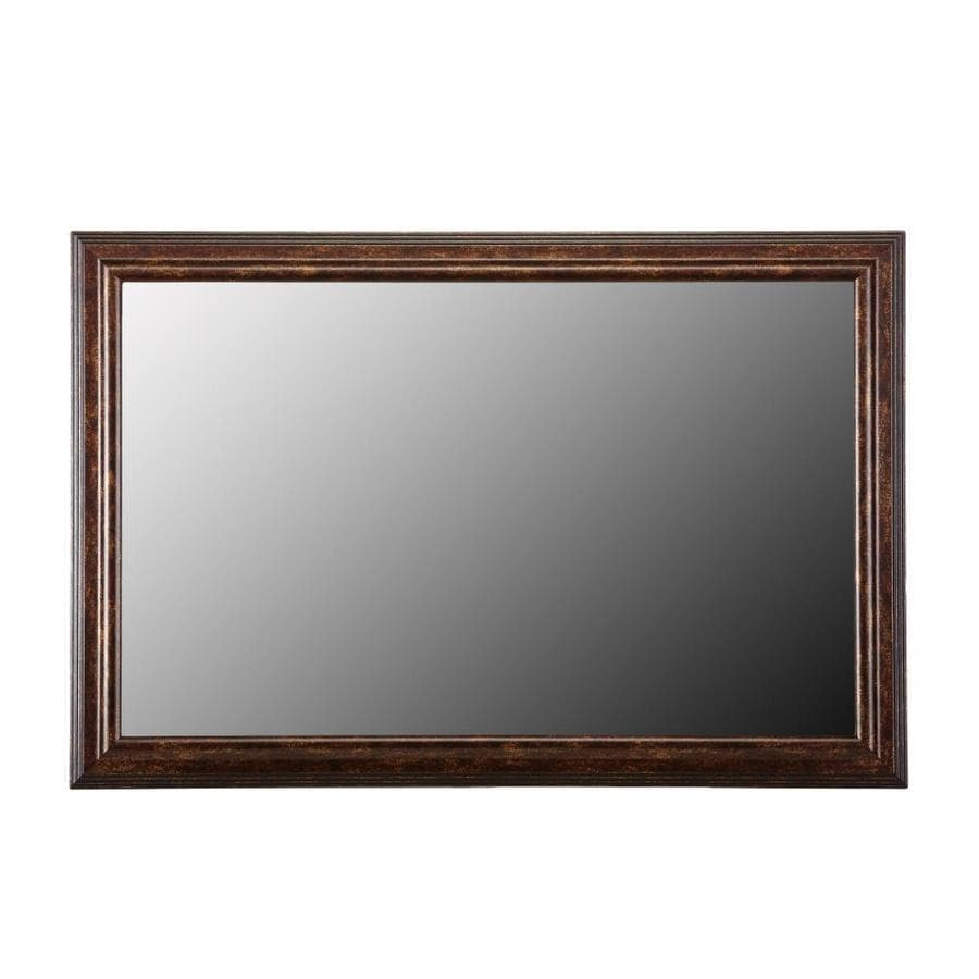 gardner glass products mirror frame kit 60 x 36 carson bronze at rh lowes com Pre-made Mirror Frame Kits Stick On Frames for Mirrors