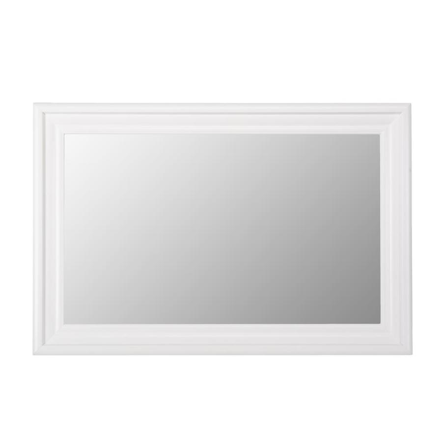 Shop Gardner Glass Products Mirror Frame Kit 30 x 42 Humboldt White ...