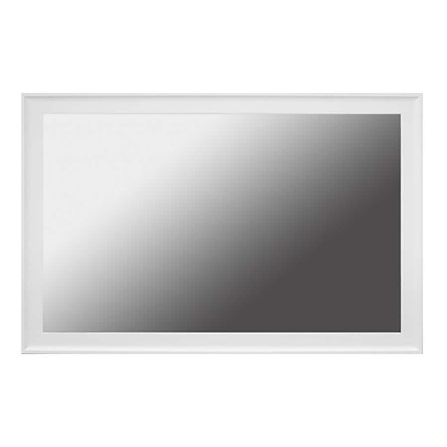 Shop Gardner Glass Products Mirror Frame Kit 48 x 36 Avery White at ...