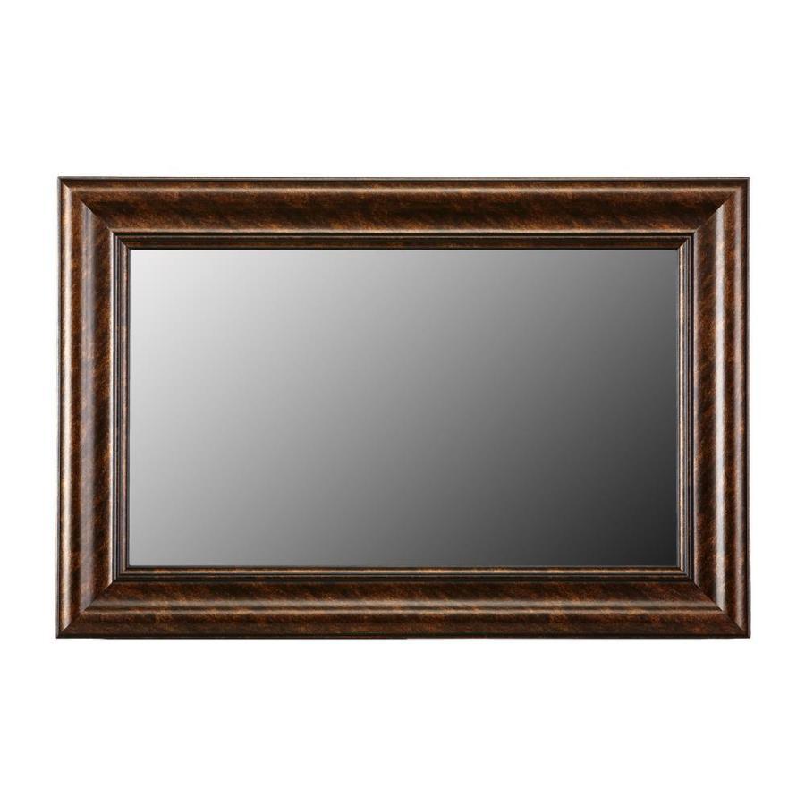 Shop Gardner Glass Products Mirror Frame Kit 24 x 36 Camden Bronze ...