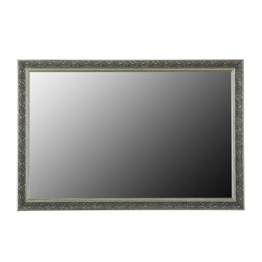 shop gardner glass products mirror frame kit 30 x 42 val verde american pewter at. Black Bedroom Furniture Sets. Home Design Ideas
