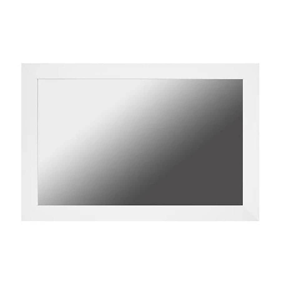Shop Gardner Glass Products Mirror Frame Kit 30 x 36 Berkshire White ...