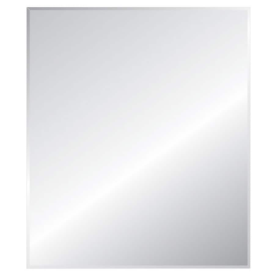 Style Selections 24-in x 30-in Silver Beveled Rectangle Frameless Traditional Wall Mirror