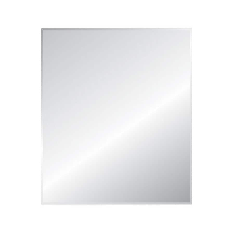 Style Selections Silver Beveled Frameless Wall Mirror