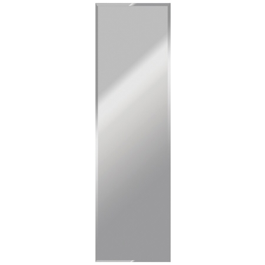 Dreamwalls 16-in x 56-in Silver Beveled Rectangle Frameless Traditional Wall Mirror