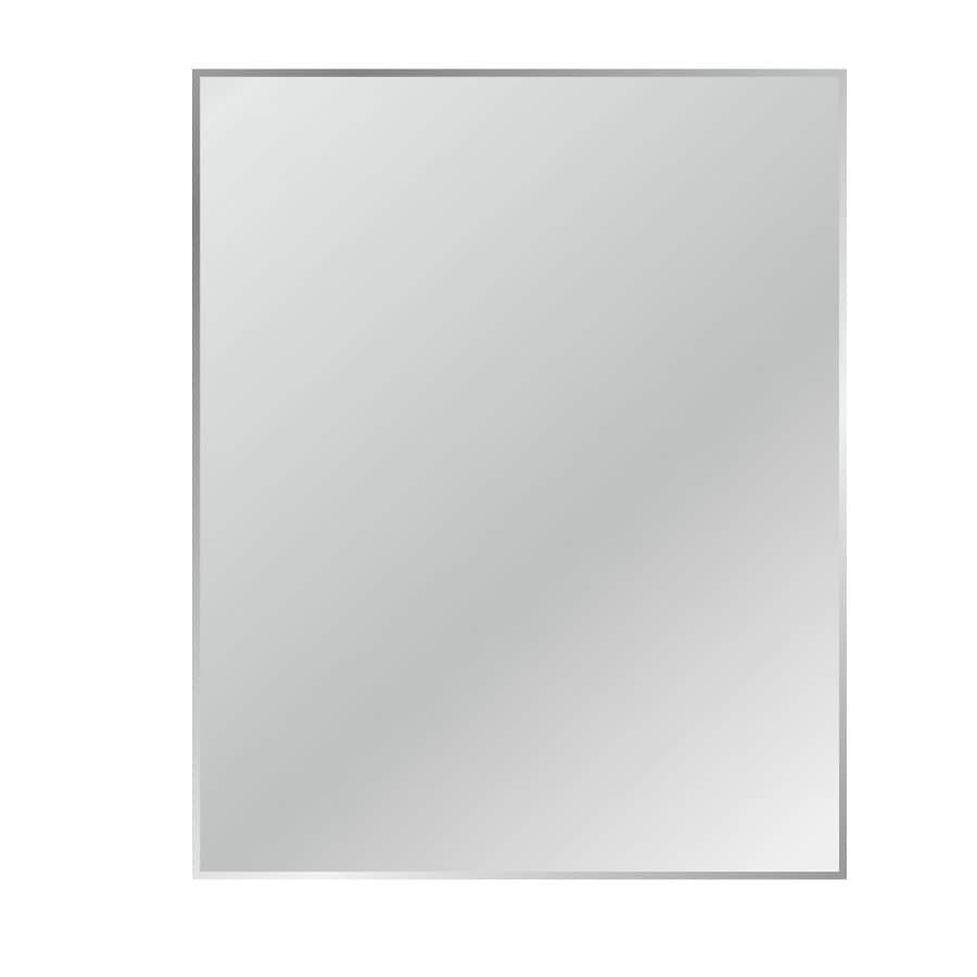 Gardner Glass Products 18-in x 24-in Silver Beveled Rectangle Frameless Traditional Wall Mirror