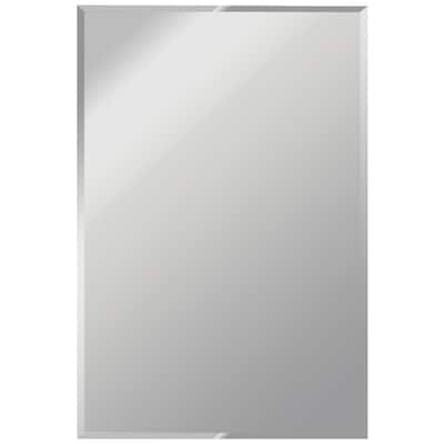 36 In L X 24 W Beveled Frameless Wall Mirror