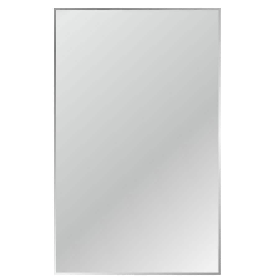 Gardner Glass Products Silver Beveled Frameless Wall Mirror