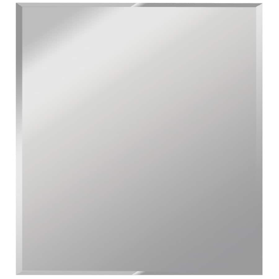 Dreamwalls Silver Beveled Square Frameless Wall Mirror