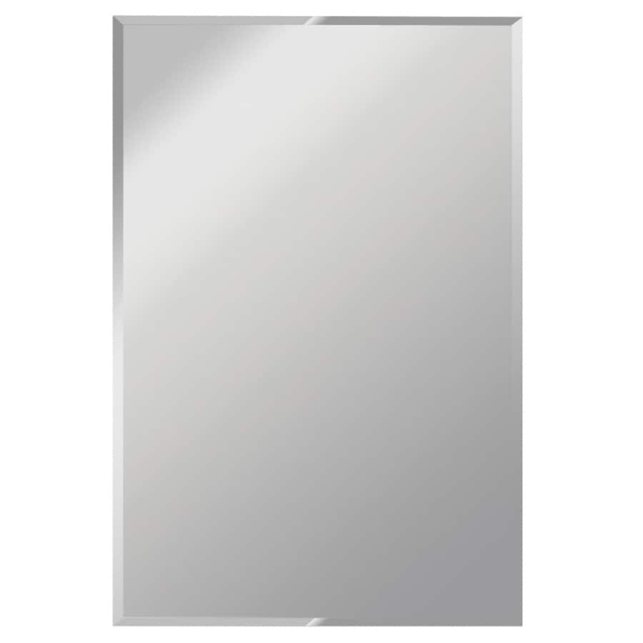shop gardner glass products silver beveled frameless wall