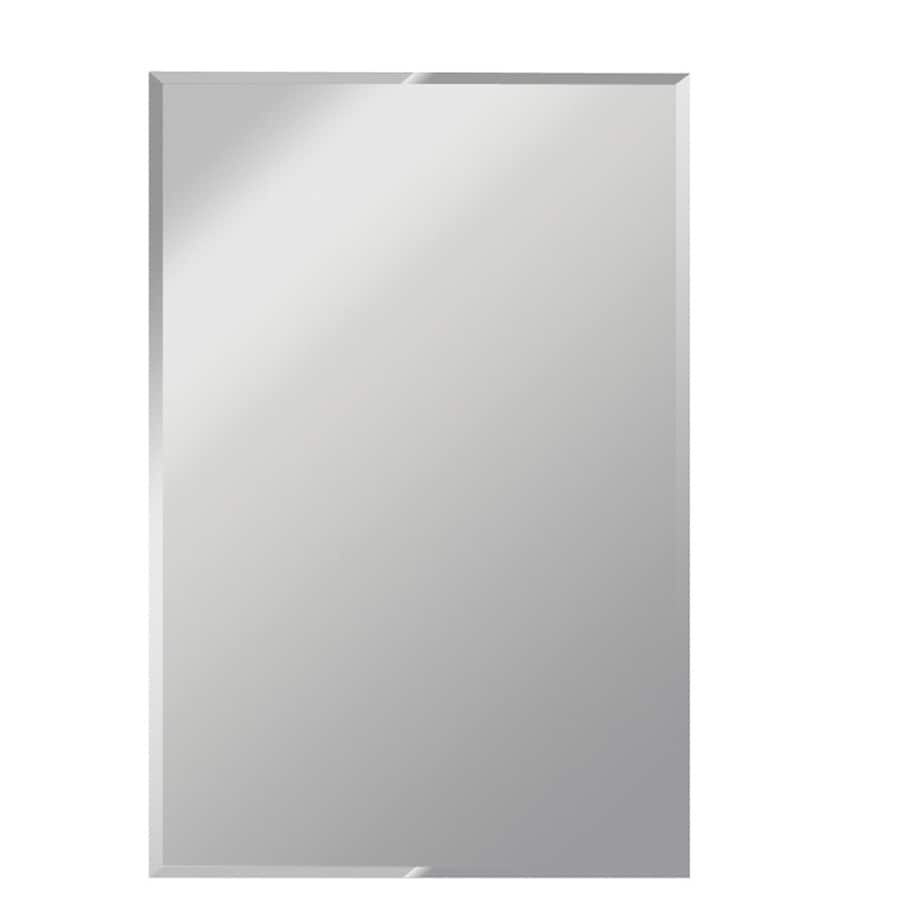 Shop gardner glass products silver beveled frameless wall for Mirror 48 x 60