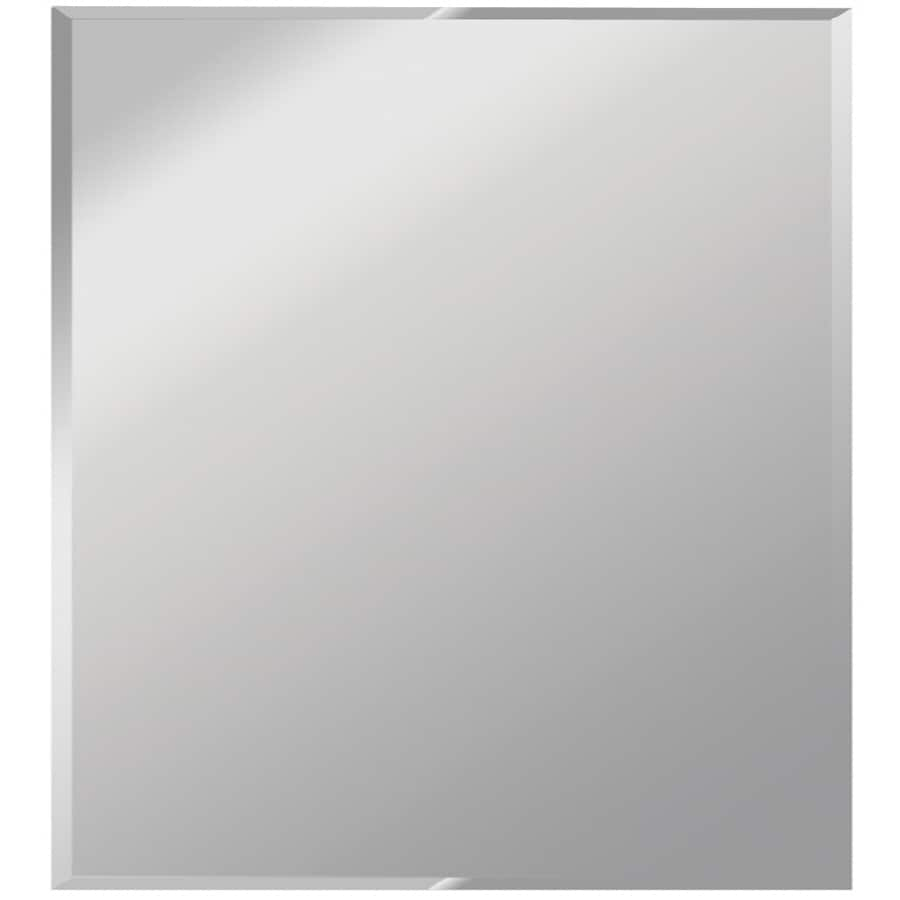 Shop dreamwalls silver beveled square frameless wall for Armoire de toilette miroir ikea