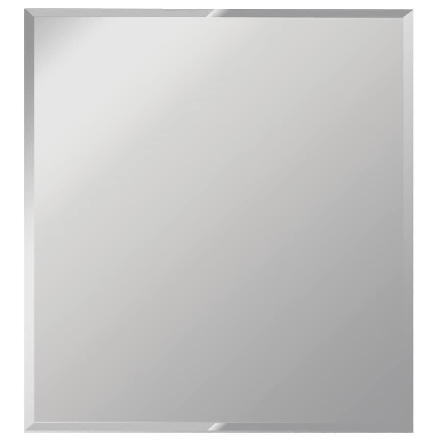 Shop dreamwalls silver beveled frameless wall mirror at for 16 in x 60 in beveled door mirror