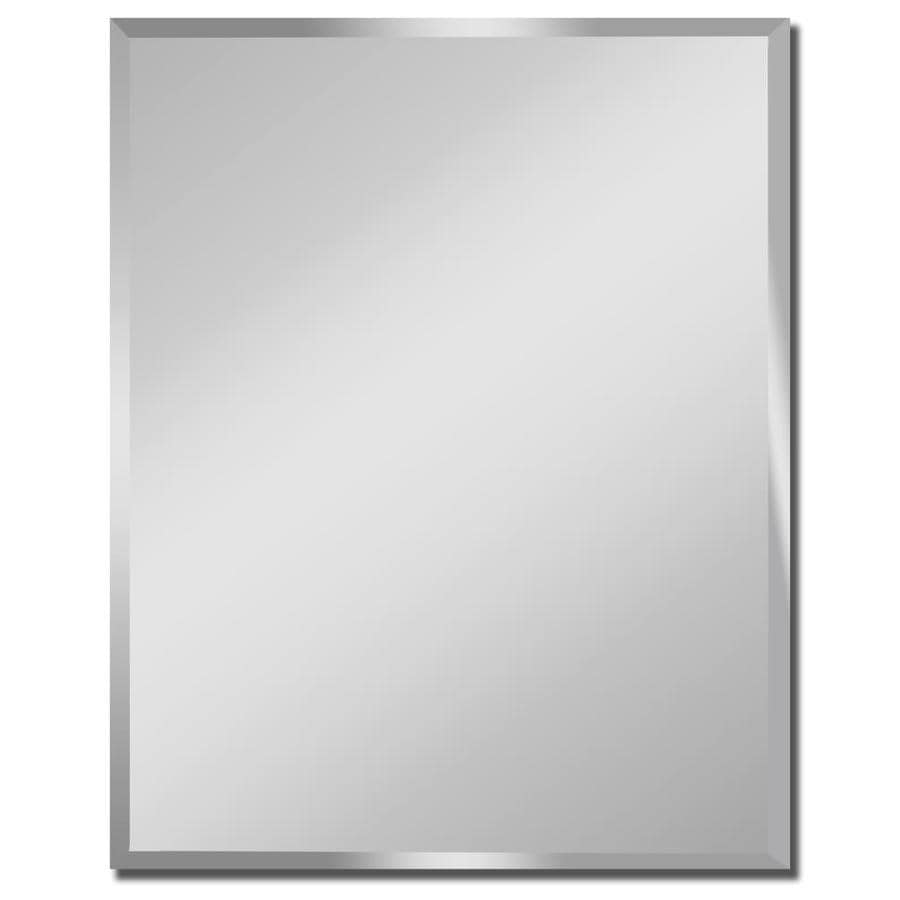 Gardner Glass Products 48-in x 60-in Silver Beveled Rectangle Frameless Traditional Wall Mirror