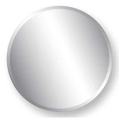 28 In L X W Round Beveled Wall Mirror