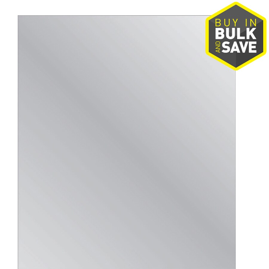 Style Selections Silver Polished Frameless Wall Mirror