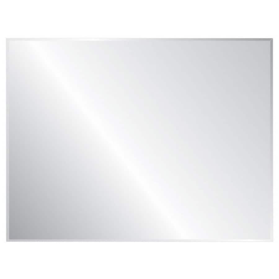 Style Selections 36-in x 48-in Silver Beveled Rectangle Frameless Traditional Wall Mirror