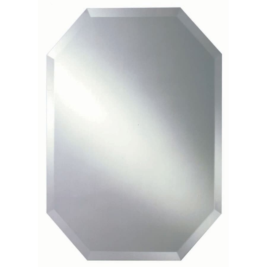 Shop style selections beveled octagon frameless wall for Frameless wall mirror