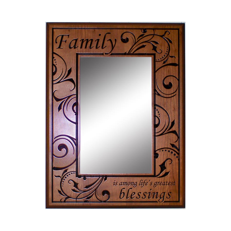Shop Style Selections Cherry Rectangle Framed Wall Mirror At Lowes