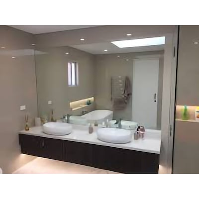 60 In L X 36 W Polished Wall Mirror