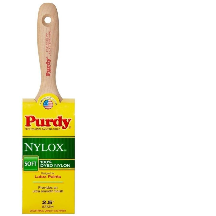 Purdy Nylox Pip Nylon Flat Sash Paint Brush (Common: 2.5-in; Actual: 2.5-in)