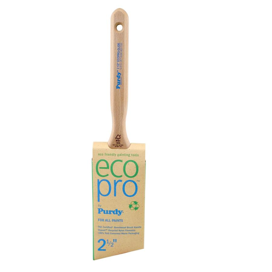 Purdy Eco Pro Glide Nylon Angle Wall Paint Brush (Common: 2.5-in; Actual: 2.5-in)
