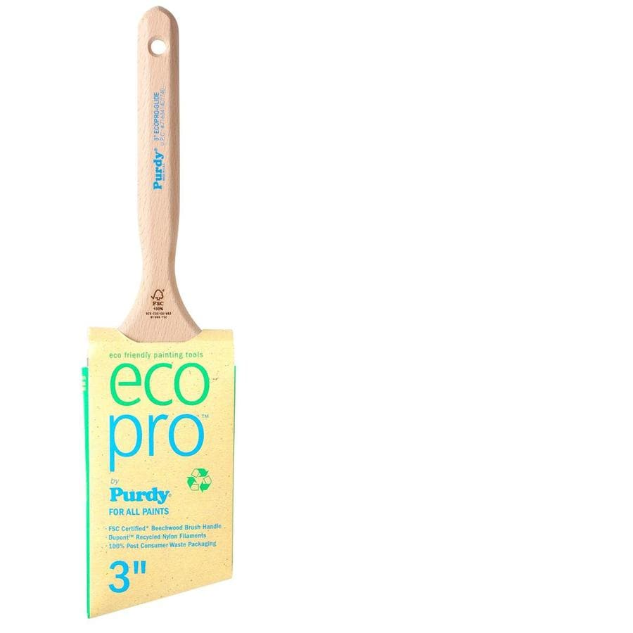 Purdy Eco Pro Glide Nylon Angle Wall Paint Brush (Common: 3-in; Actual: 3-in)