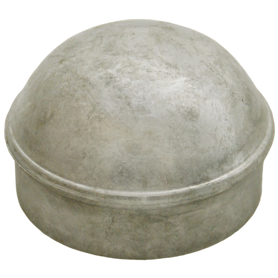 (Fits Common Post Measurement: 4-in; Actual: 5.25-in x 1.5-in) Galvanized Steel Dome Cap