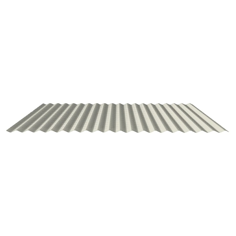 Fabral 7/8-In Corrugated 2.95-ft x 8-ft Corrugated Steel Roof Panel
