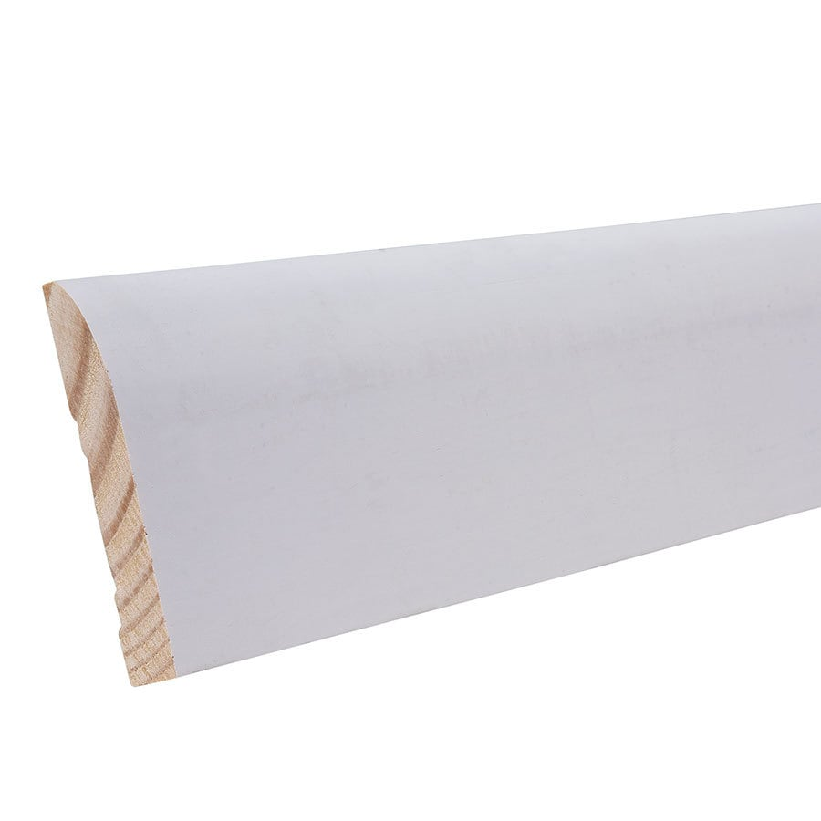 "EverTrue Primed Pine 713 Base 3 1/4"" x 12' x 9/16"""
