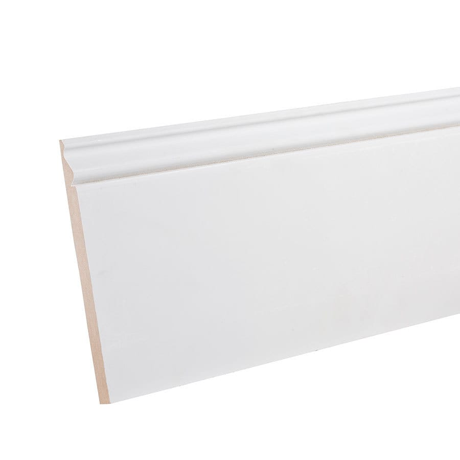 7.25-in x 12-ft Interior Primed MDF Baseboard Moulding