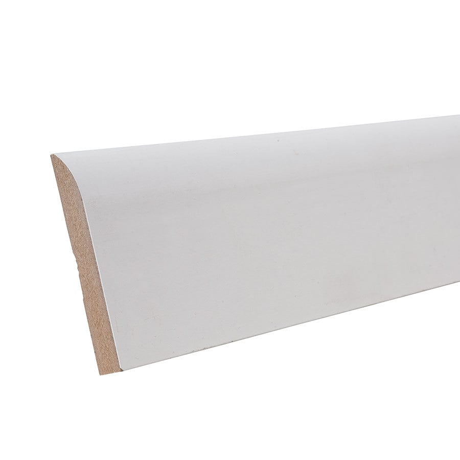 3.25-in x 12-ft Interior Primed MDF Baseboard Moulding