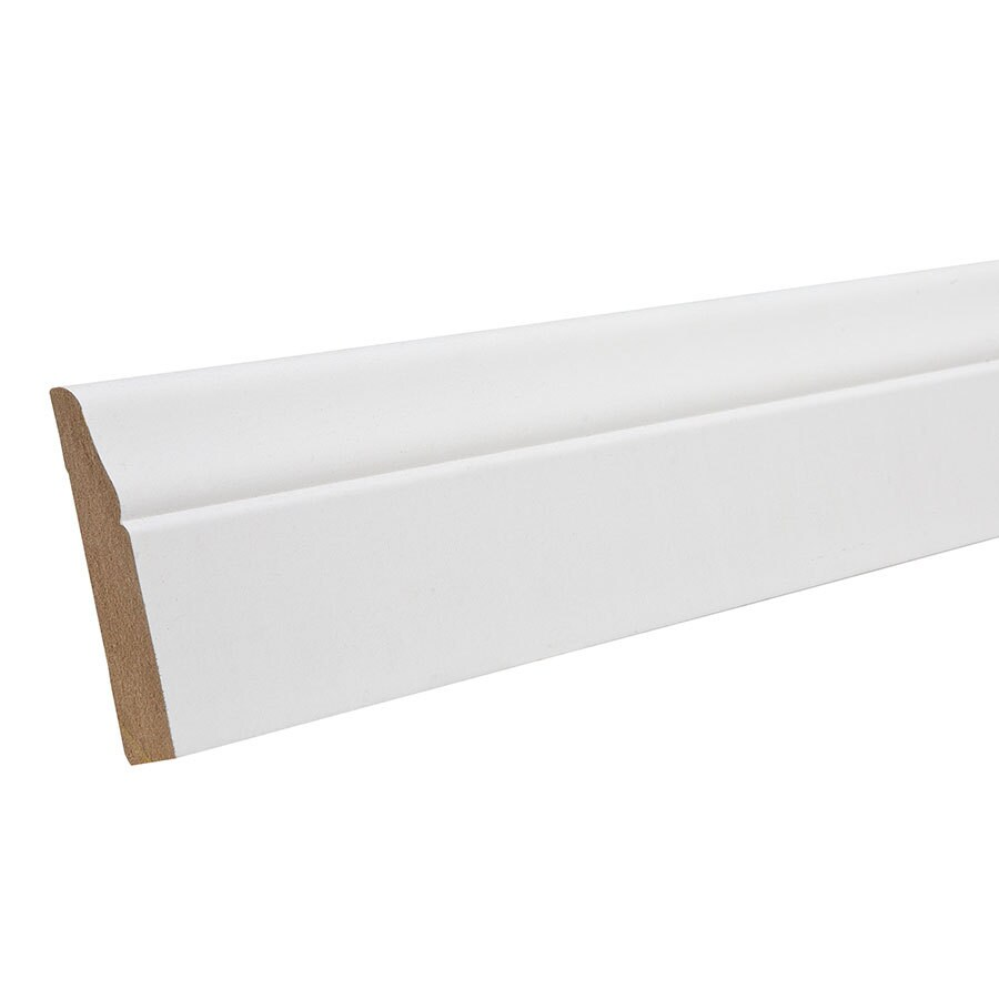 2.5-in x 8-ft Interior Primed MDF Baseboard Moulding