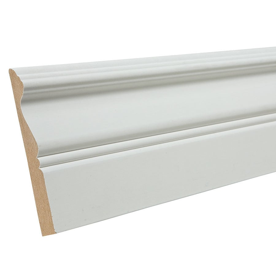 4-in x 8-ft Interior Primed MDF Baseboard Moulding