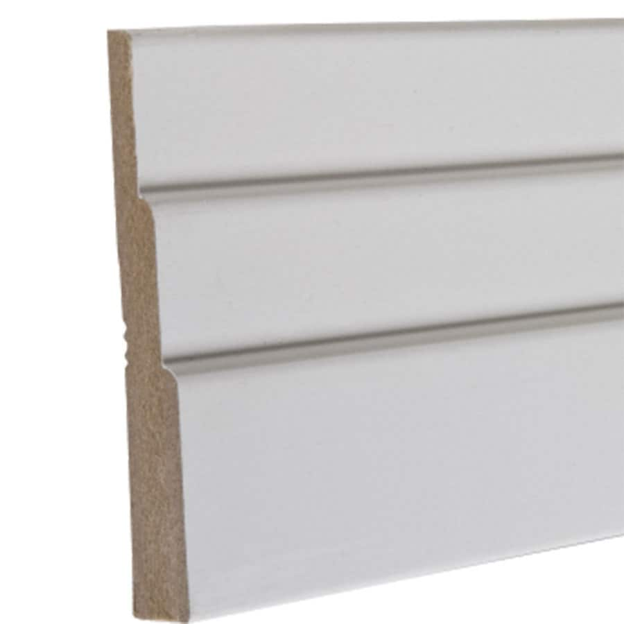 3.5-in x 12-ft Interior Primed MDF Baseboard Moulding