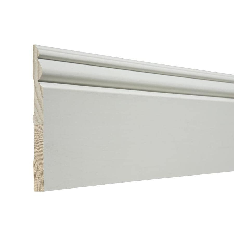 5.438-in x 12-ft Interior Pine Primed Baseboard Moulding