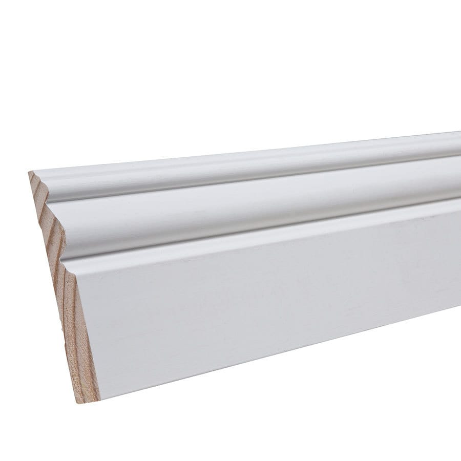 3.438-in x 8-ft Interior Pine Baseboard