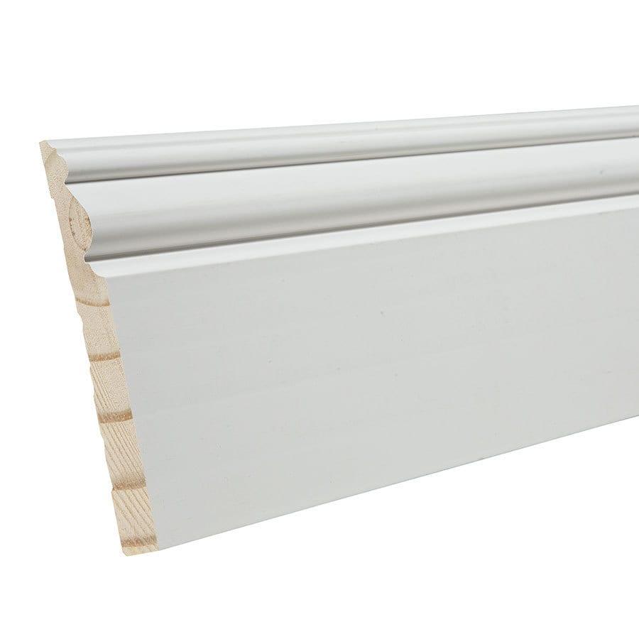 4.5-in x 8-ft Interior Pine Primed Baseboard Moulding