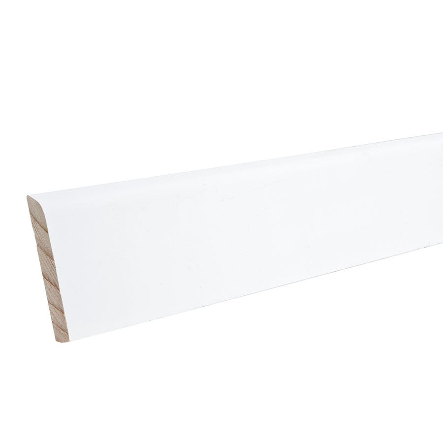 2.25-in x 12-ft Interior Pine Primed Baseboard Moulding